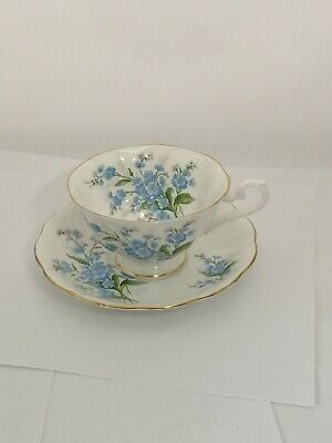Royal Albert ENGLAND Forget Me Not Avon Shape Cup  & Saucer Set