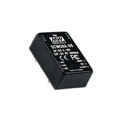 SCW08B-15 Converter DC/DC 8W Uin18÷36V 15VDC Iout533mA 15g 50kHz MEANWELL