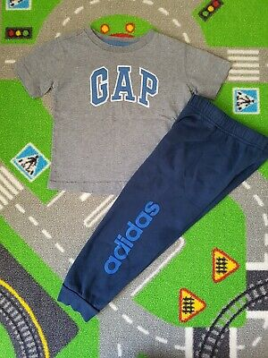 Gap Tshirt And Adidas Pants Small Bundle Size 18-24 Months