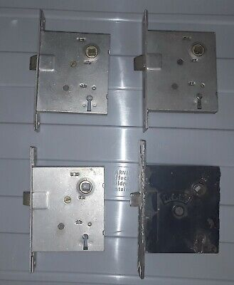 Vintage Branford (BLW) Mortise Lock and 3 Unbranded Mortise Locks