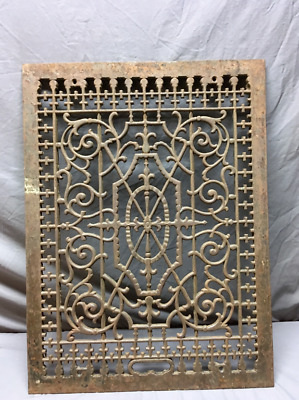 Antique Cold Air Return 31x24 Cast Iron Decorative Design Grate 350-19L