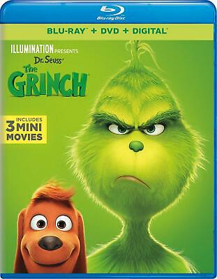 NEW!!! Illumination Presents: Dr. Seuss' The Grinch Blu-ray/DVD/Digital HD 2019
