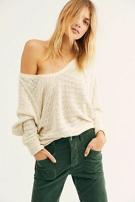 d9c5ef4e18d1 NWT Free People We The Free Cream Thien's Hacci Top Sweater S Small $68