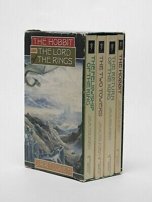 The Hobbit & Lord of the Rings by JRR Tolkien Book Box Set ~ Houghton Mifflin