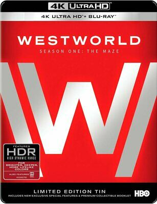 NEW! Westworld: The Complete First Season (4K Ultra HD Blu-ray, 2017 Tin Edition