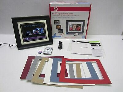 "Hewlett Packard HP 8"" Digital Picture Photo Frame with Extra Mats Bundle df820a2"