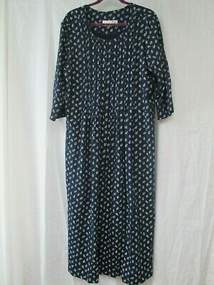 Vermont Country Store Navy Blue Print Dress