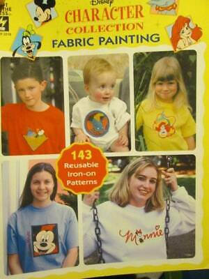 Disney Character Collection Fabric Painting Book-143 Reusable Iron-On Patterns