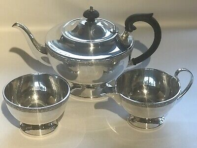 VINTAGE SILVER PLATED EPNS TEA SET Sheffield Made In England