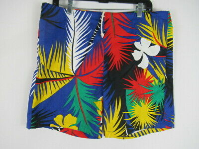 1e3ce0b2ae9 VINTAGE 80s Surf Line Hawaii Original Jams Swim Trunks Shorts Tropical  MEDIUM