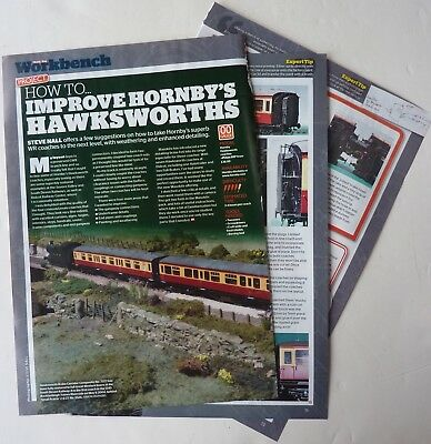 Detailing Oo Gauge Hornby Hawksworth Coaches 4 Page Article From Model Rail