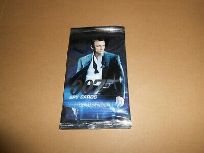James Bond 007 Unopened Pack of 9 Trading Cards Commander Spy Daniel Craig