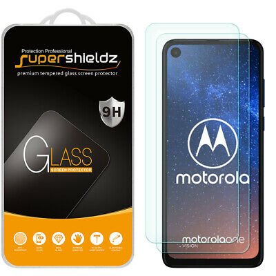 [2-Pack] Supershieldz Tempered Glass Screen Protector for Motorola One Vision