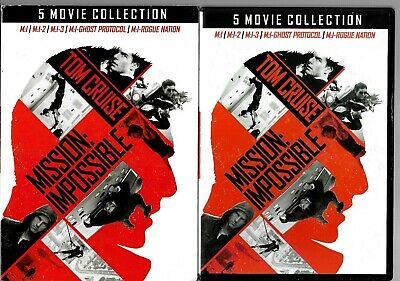 Mission:impossible 5-Movie Collection (Dvd, 5-Disc Set)~Tom Cruise~Good+Freeship