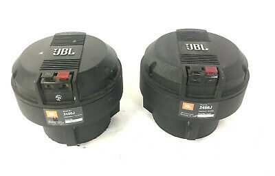 "PAIR of JBL 2450J Neodymium Horn Compression Drivers 16 OHM 2"" DCR's: 7.5 / 7.9"