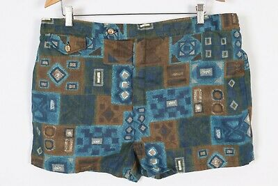 Vintage 70s JANTZEN Cotton Hawaiian Swim Trunks Shorts USA Mens Size 40-42