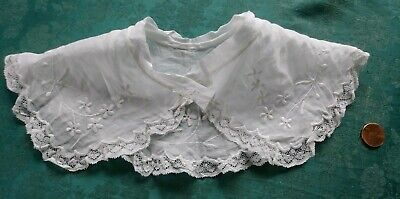 Pretty  antique French lace childs COLLAR  BABY embroidered