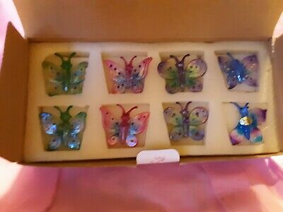 Princess House Crystal 7 Piece Butterfly Exclusive Ornaments Rare