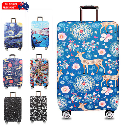 18-32'' ELASTIC Travel Luggage Suitcase Cover Case Protect Scratch Dustproof Bag