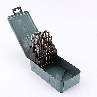 25Pcs Titanium Cobalt Coated Drill Bit Set 1Mm - 13Mm Hss Drill Bits With Box