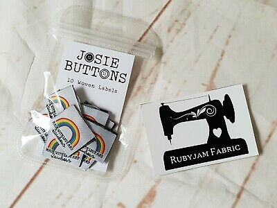 Made with Love and Rainbows -sew in woven tags clothing label FREEPOSTAU