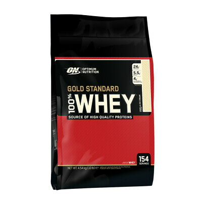 OPTIMUM NUTRITION 10lbs 4,5kg 100% WHEY - GOLD STANDARD PROTEIN - Cheapest Price