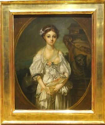 Fine 18th 19th Century French Portrait of A Girl Antique Jean-Baptiste GREUZE
