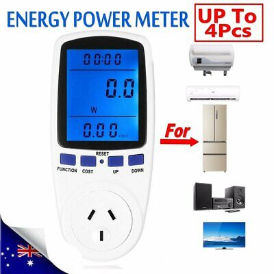 AU Plug Energy Power Meter Monitor Consumption Watt Electricity Usage Tester