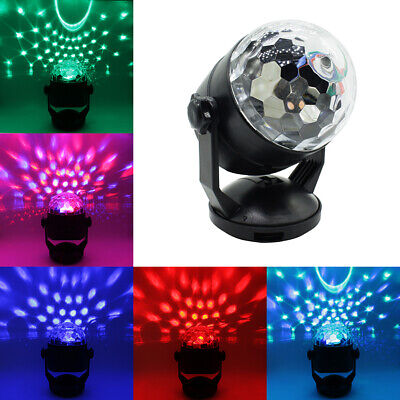 USB RGB LED Disco Ball DJ Party Light Effect Strobe Auto Sound Magic Activated