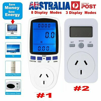 Plug Power Meter LCD Energy Monitor Consumption Watt Electricity Usage Tester