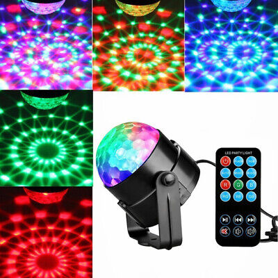 Disco Ball DJ Party Light Effect Strobe RGB KTV LED Remote Auto Sound Activated