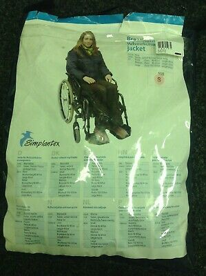 NEW SIMPLANTEX Breathable Waterproof wheelchair jacket S M L Wheelchairs scooter