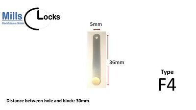 Brass English Dial Fusee Clock Pendulum Suspension Spring Spares (Type F4)