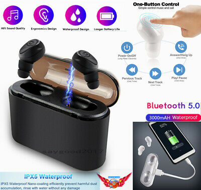 Wireless Bluetooth 5.0 Mini Invisible Tws Earphone In-ear 5D Stereo Headphones