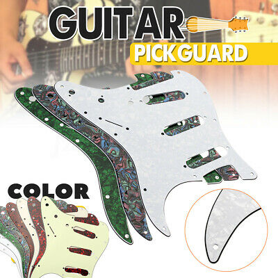 Stratocaster 3ply 11-Hole Scratchplate Pickguard SSS Fit USA & MEX Fender Strat*