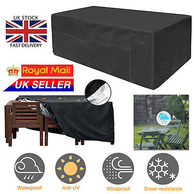 Heavy Duty Waterproof Patio Garden Furniture Cover Outdoor Large Rattan Table UK