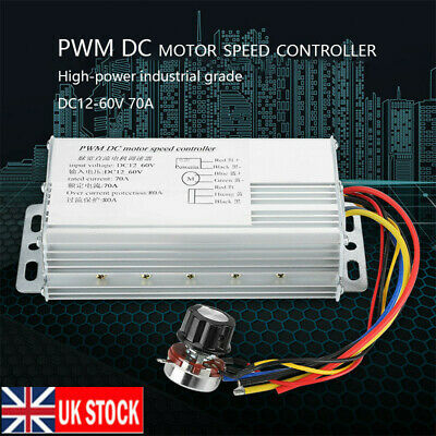 DC 12V-60V 70A High Power PWM Motor Speed Controller Drive Control Regulator UK