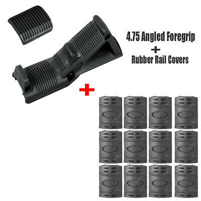 """Tan Angled Foregrip 4.75/"""" Front Hand Guard Grip Picatinny Quad Rail for Rifle"""