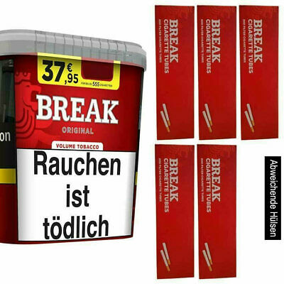 1 x Break Original Volumen Tabak 300 G + 1000 Hülsen + Feuer