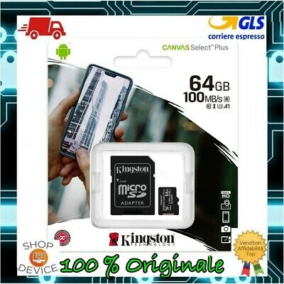 Kingston Micro SD 64GB Class 10 UHS —ULTIMO MODELLO-- Memoria SPEDIZ CON POSTA1