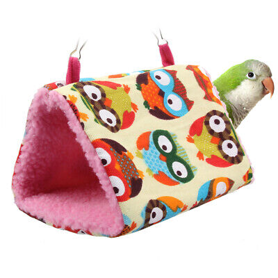 Soft Lamb Velvet Bird Parrot Hammock Hanging Cage Winter Warm Hut Nest P4PM
