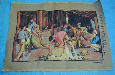 NEW Tapestry Canvas. Shearing the Rams Collection D TAPESTRY.#80-110 8151 Unused