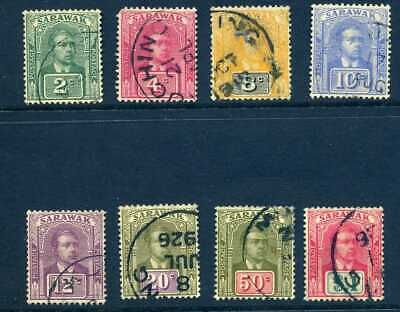 Sarawak 1918 no wmk used selection to $1 inc difficult 8c. cat approx £185