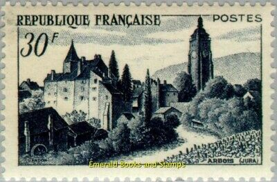 EBS France 1951 View of Arbois with Bontemps Castle YT 905 MNH**