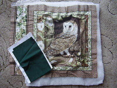"""Cushion Kit to Sew """" Barn Owl """" approx.16"""" square contains all required."""