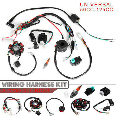 CDI Ignition System set Wiring Harness Replacement 5 Pin 4 stroke ATV 50CC-125CC