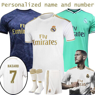 19-20 Football HAZARD Kits Soccer Jersey Short Sleeve Kids Adult Training Outfit