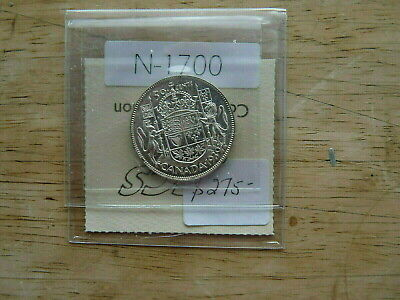 CANADA 1939 50 CENT SILVER VALUE 275.00 COA ICC.S   nice quality  N1700