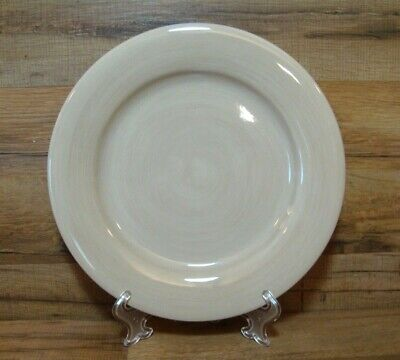 "Tabletops Gallery Avellino - Oatmeal Cream - 11 1/2"" Hand Painted Dinner Plates"