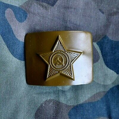 USSR Army Belt Buckle Green Color. Soviet Army. New. NOS. From Army Storage.
